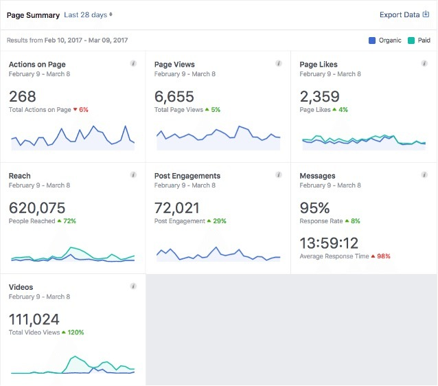 Facebook Insights Page Data