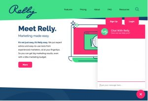 Relly Conversational Marketing Example of chatbox