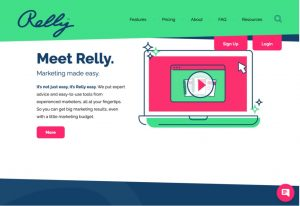 Relly Website homepage view