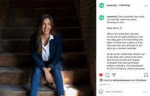 Maria Grimm Meet Relly Social Media Post